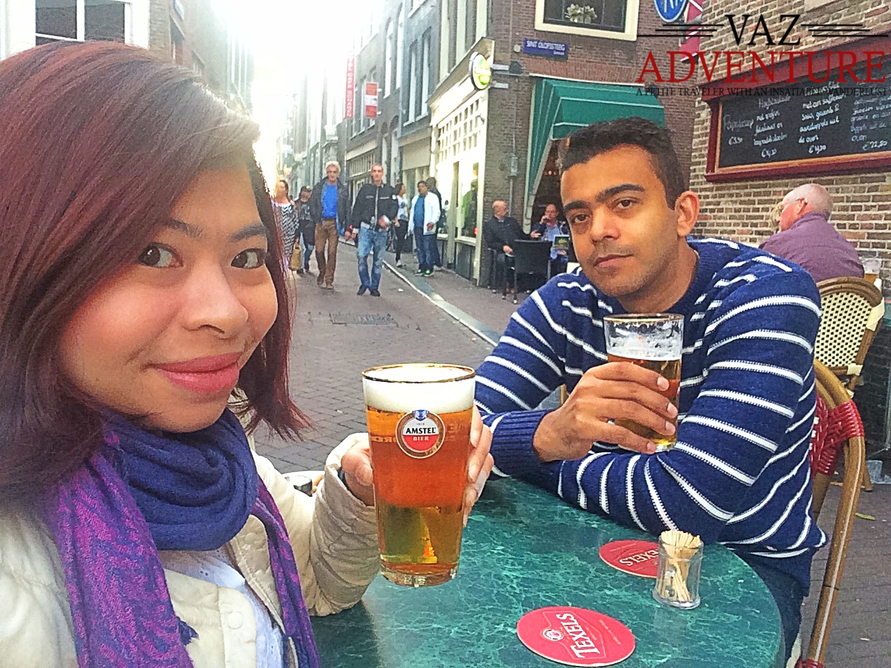 Having a beer in Jordaan District